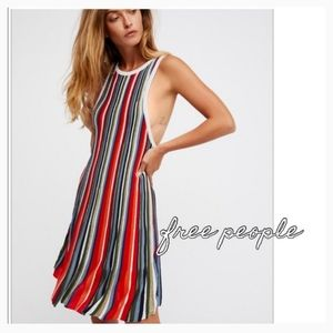 Free People Striped Colorful Sleeveless Dress